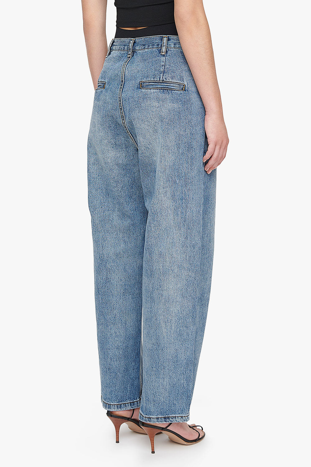 Low Rise Relaxed Button Jeans
