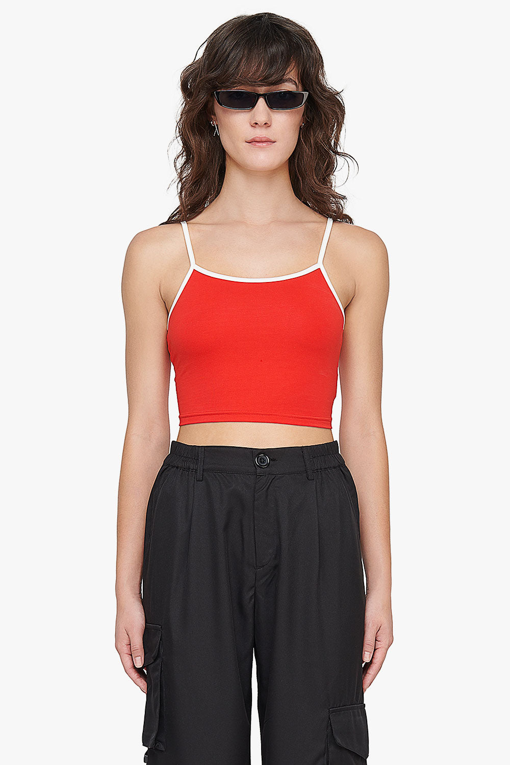 Cotton Stretch Crop Top