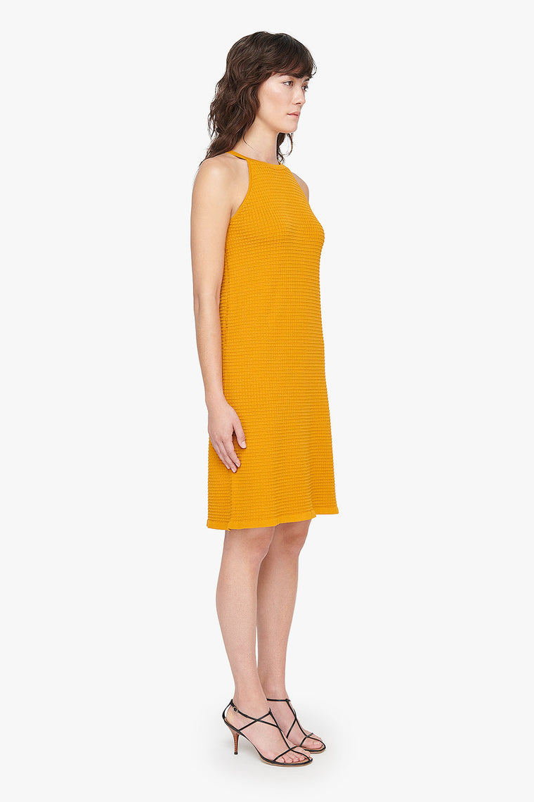 High Neck Stretch Knit Dress
