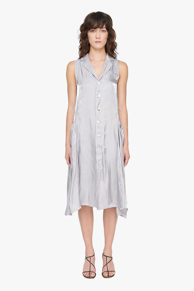 Silky Loose Button Down Dress