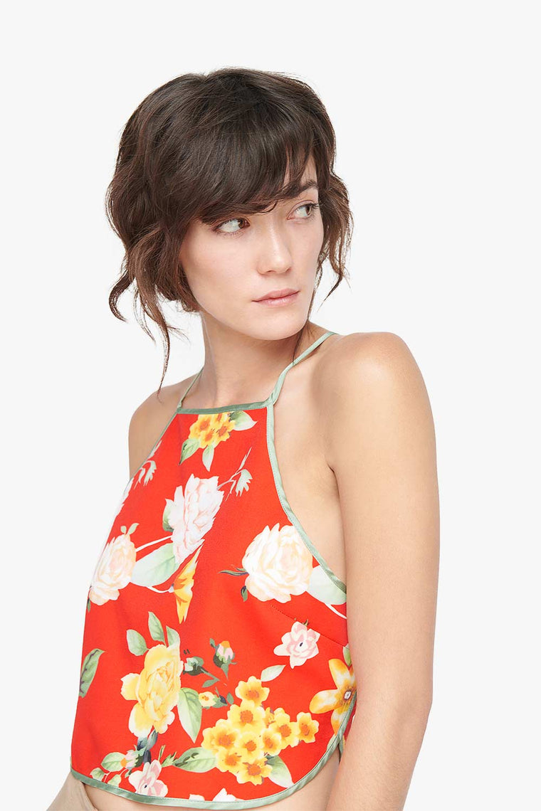 China Floral Sling Top