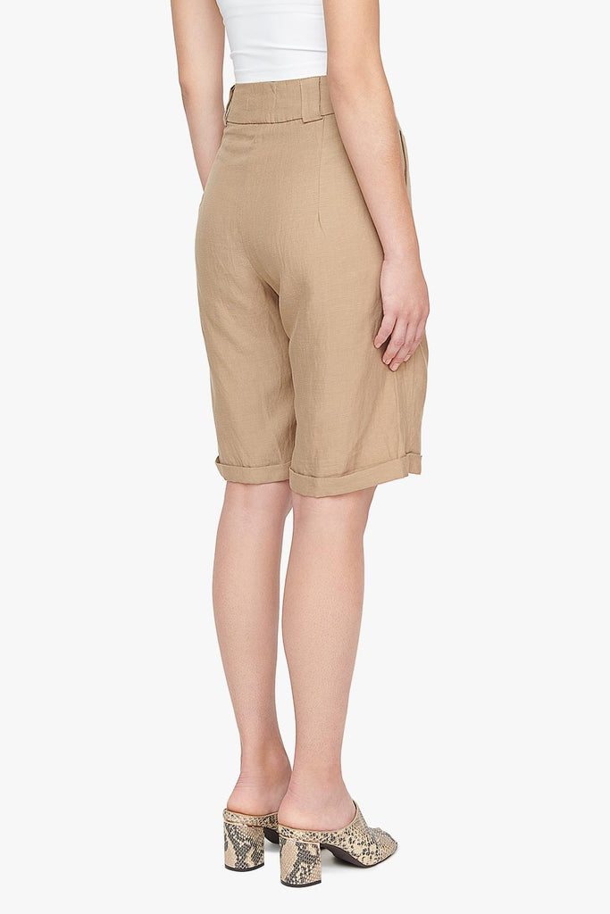 Long Tencel Linen Blend Shorts