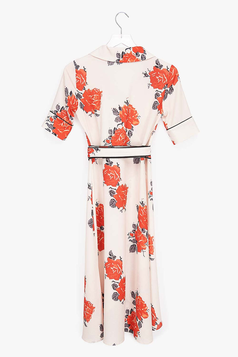 Rosebud Wrap Dress