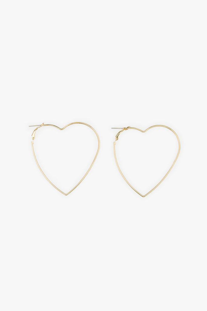 Oversized Heart Hoop Earrings