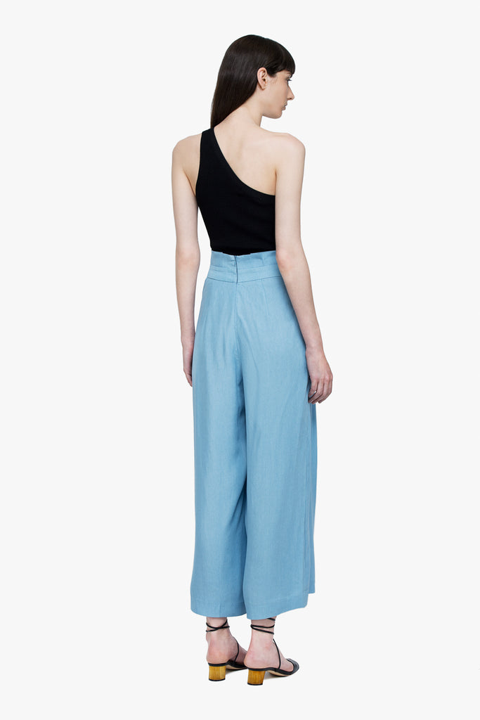 Soft Wide Leg Belted Pants