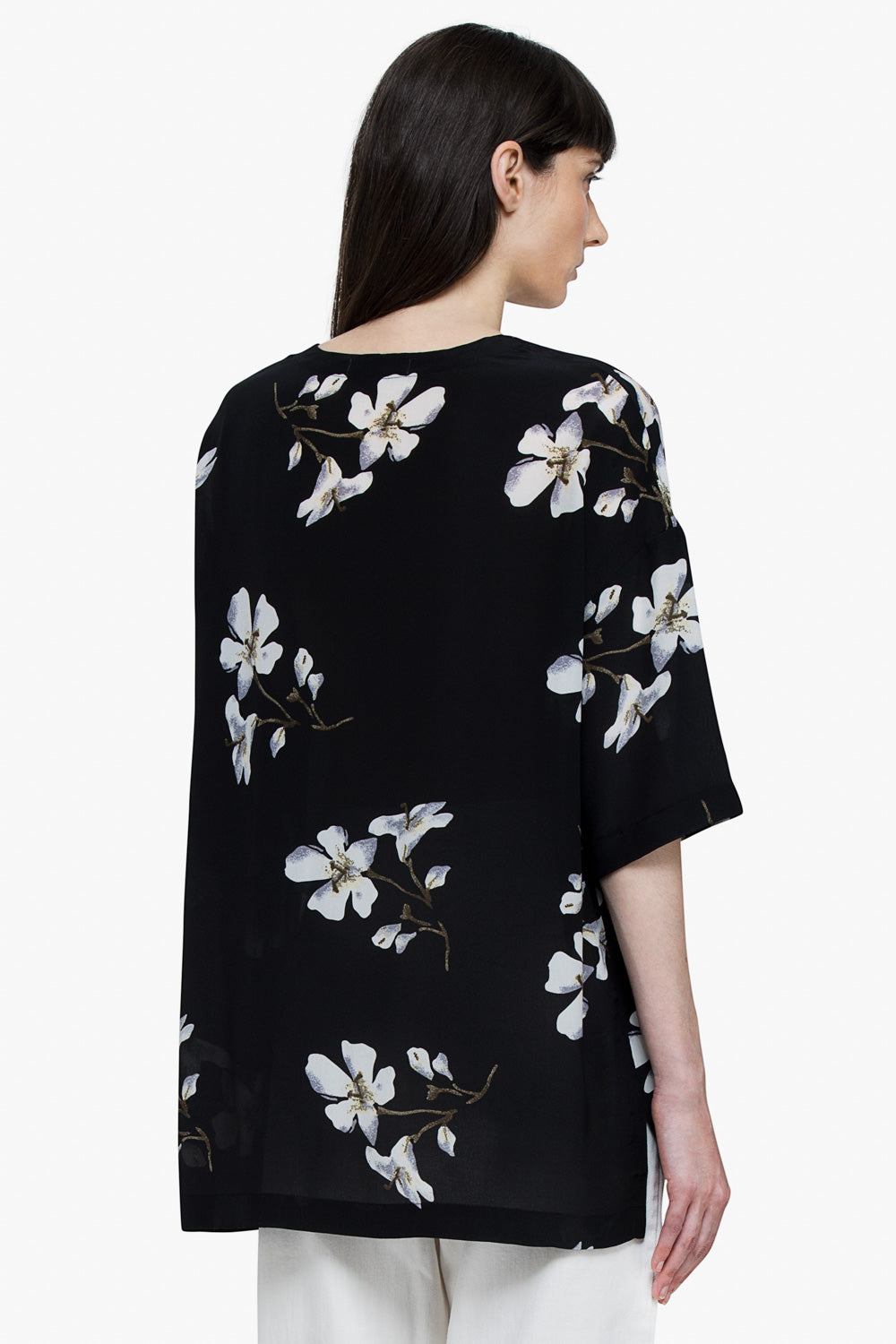 Floral Silk Sheer Blouse