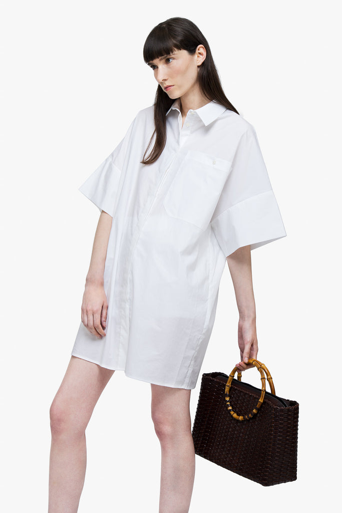 Oversized Silky Oxford Shirt