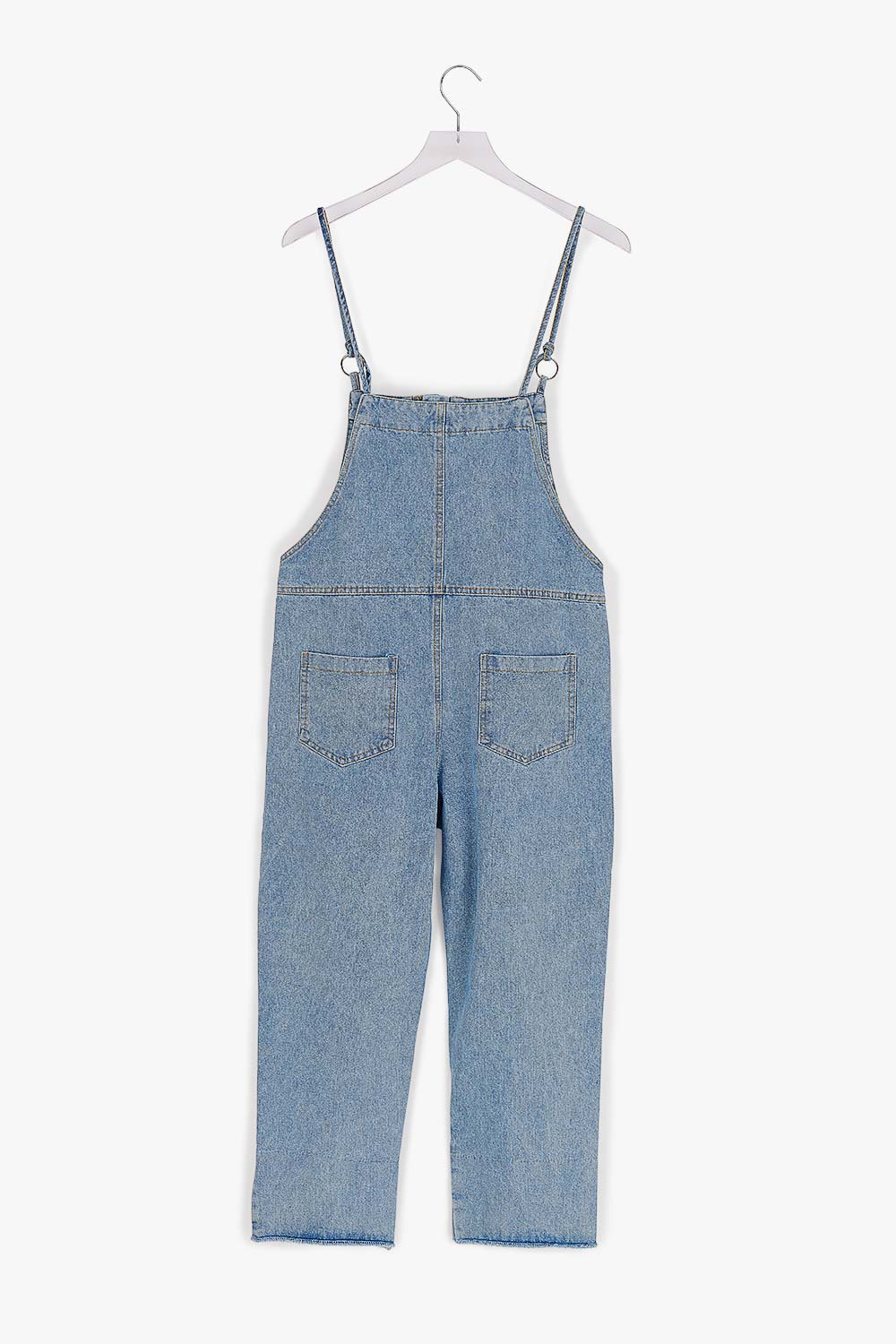 Cotton Adjustable Frayed Overall