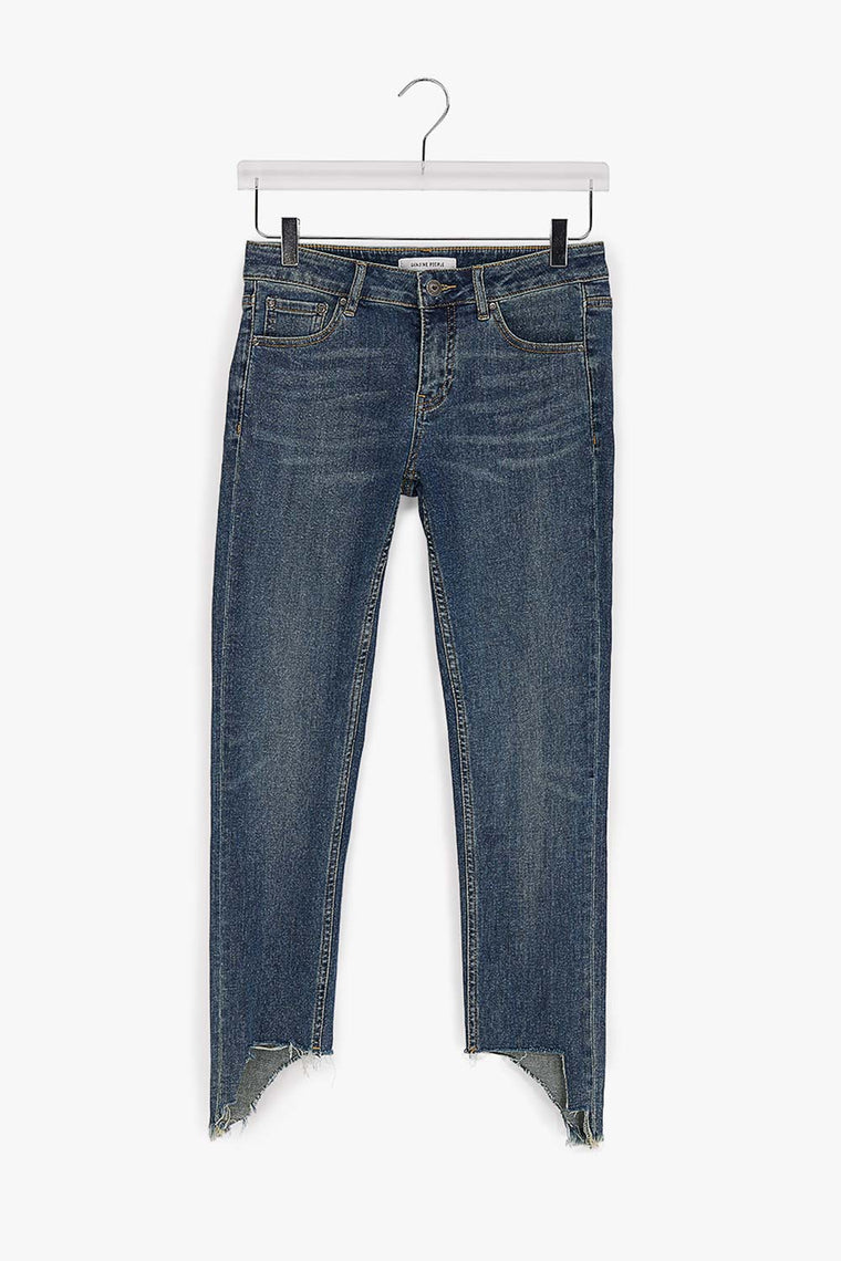 Cotton Stretch Cut Off Jeans