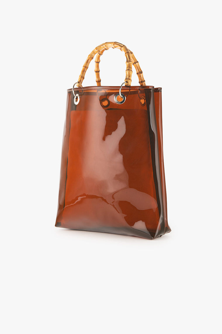 PVC Tote with Bamboo Handles