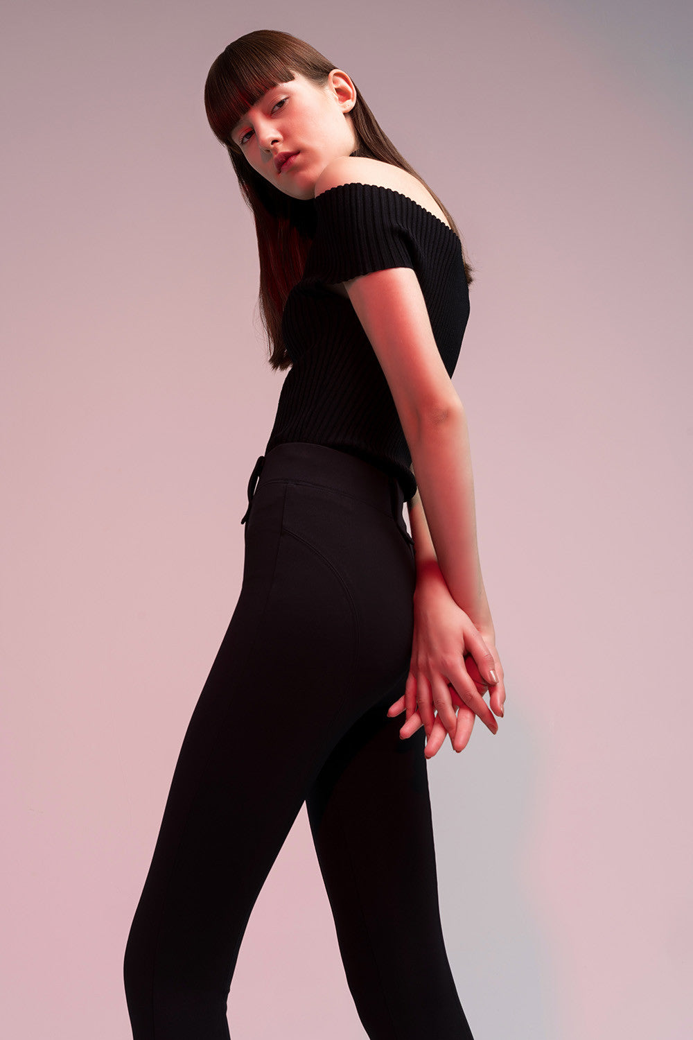 Stretch High Waist Black Leggings