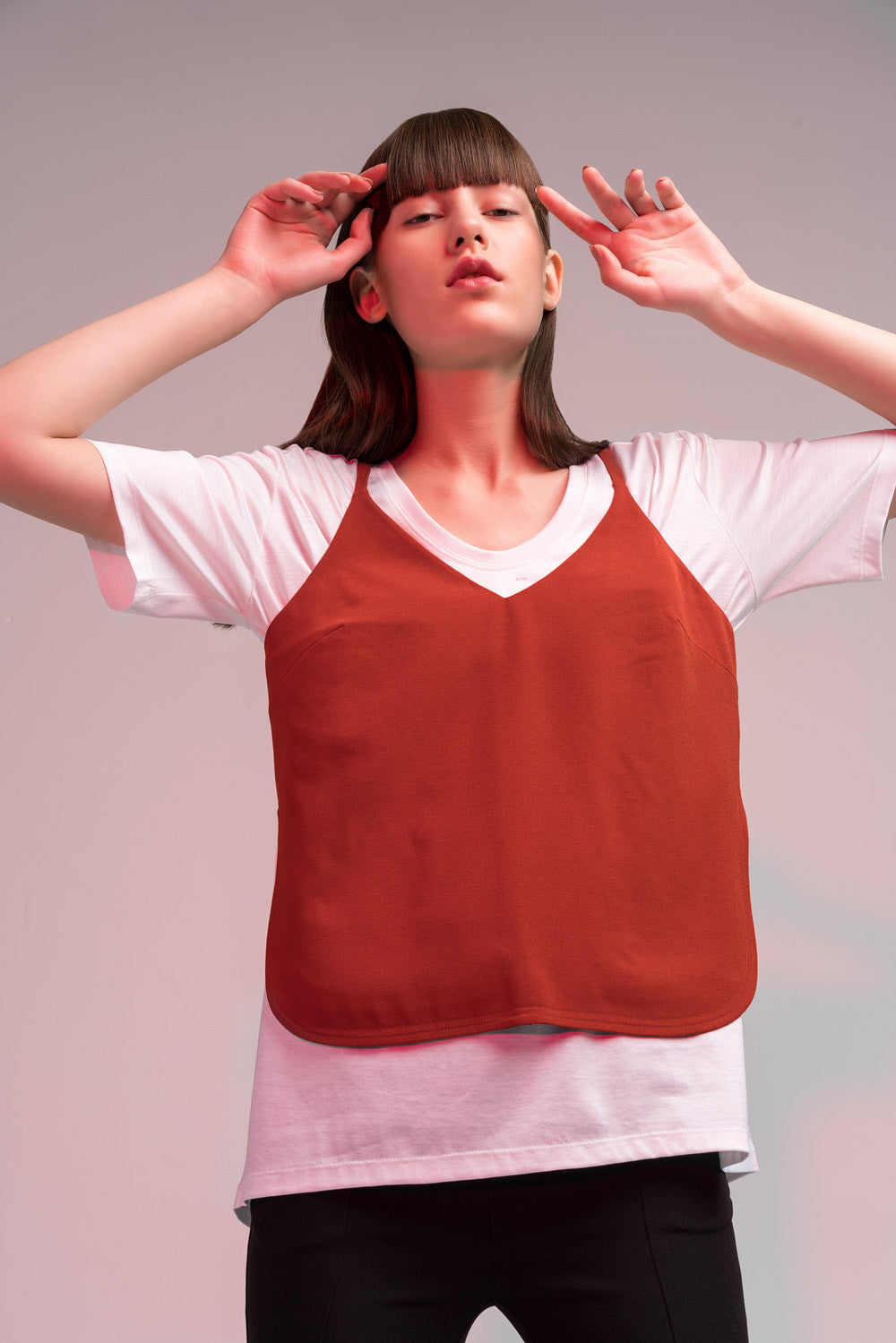 Oversized U-Neck Tee Shirt