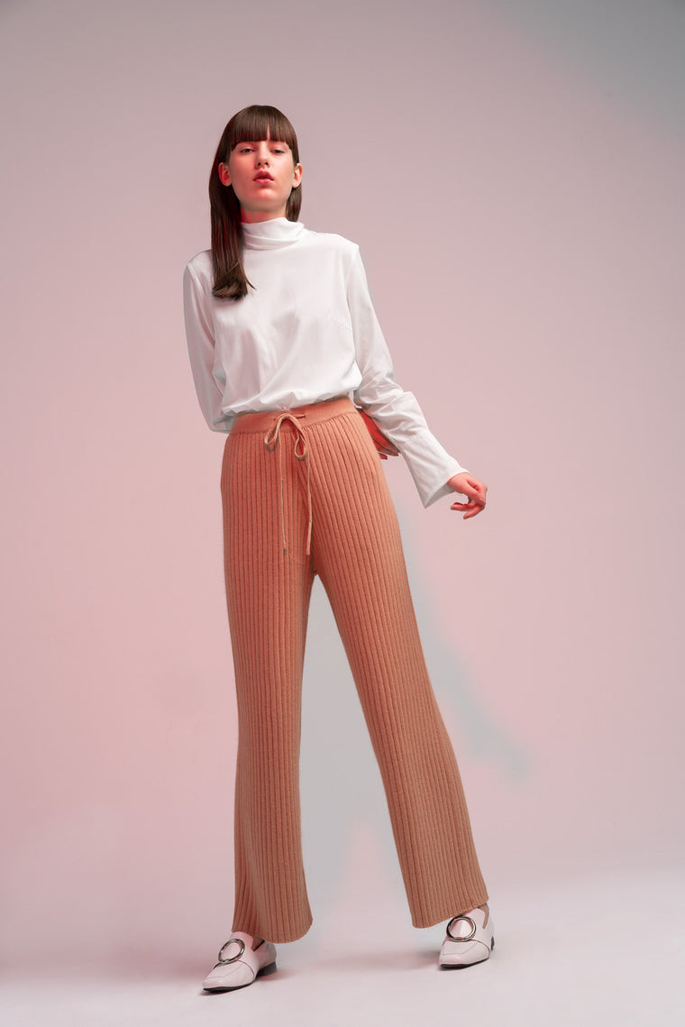 High Waisted Knit Pants
