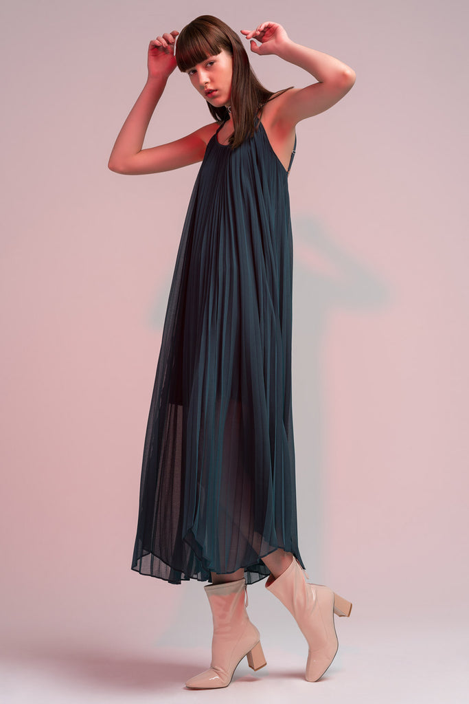 Pleated Maxi Dress