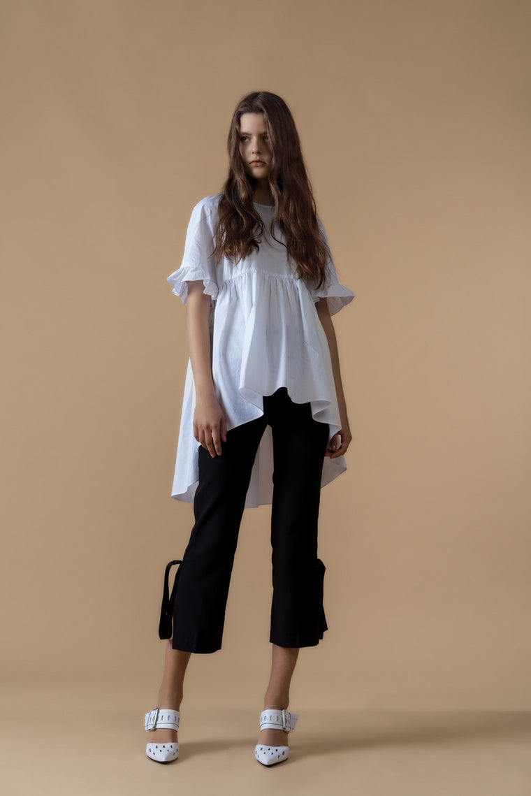 Bow Tie Crop Chiffon Pants