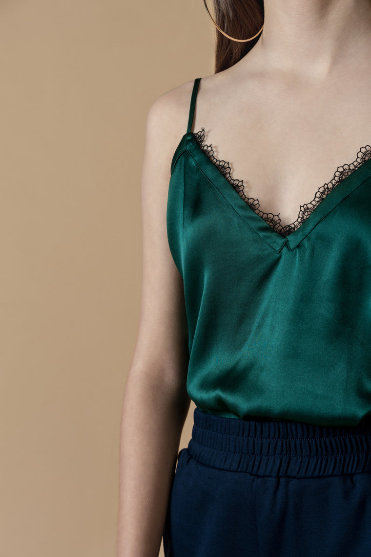 Silky Lace Slip Top