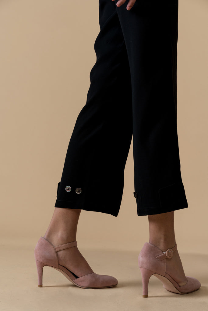 High Rise Tailored Crop Pants