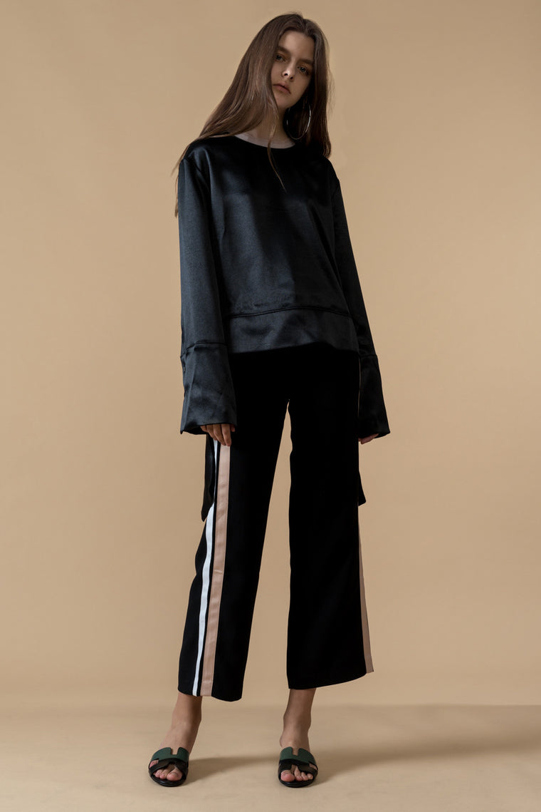 Black Side Stripe Pants