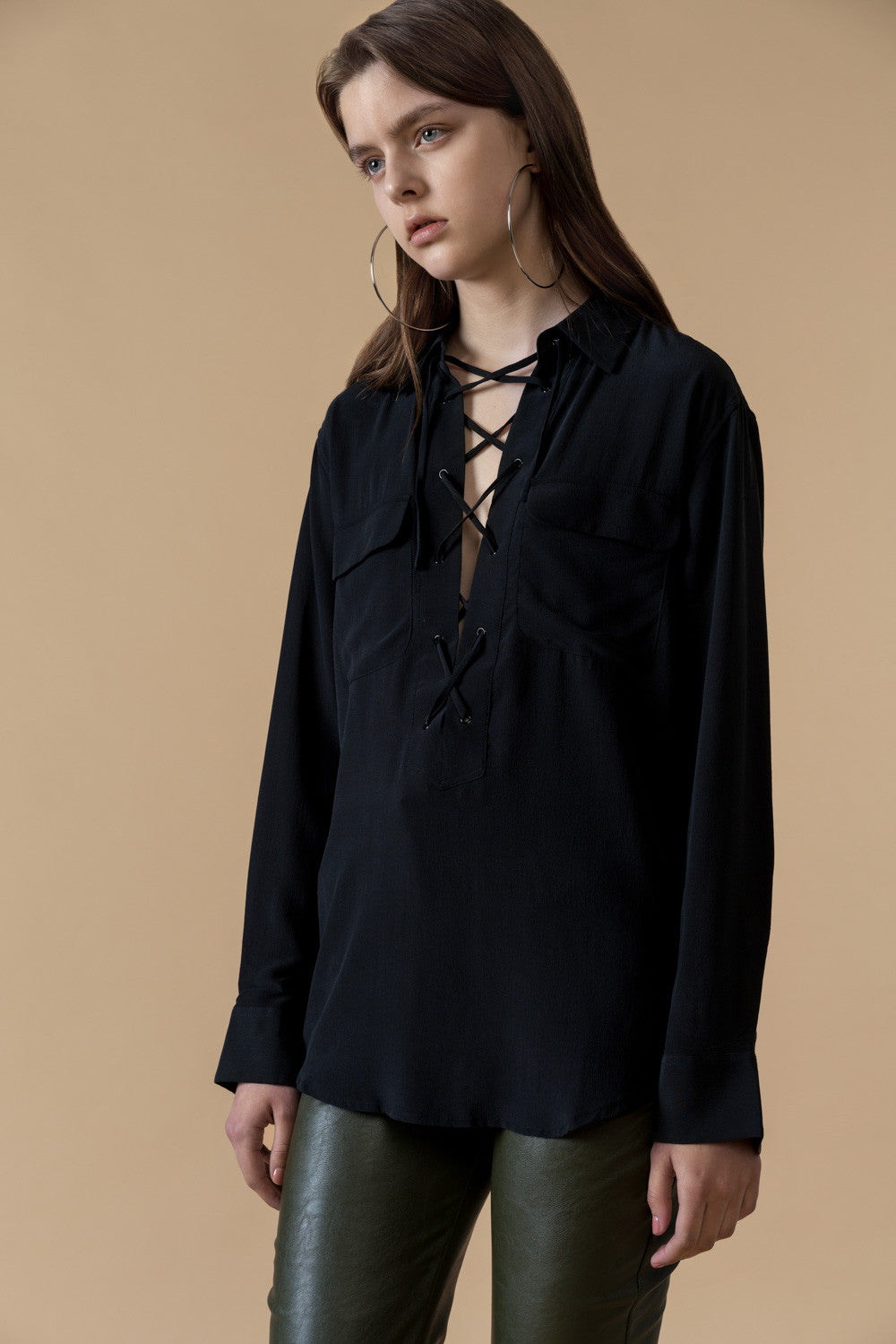 Lace-up Shirt