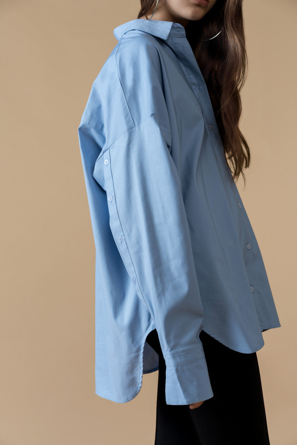 Oversized Blue Shirt