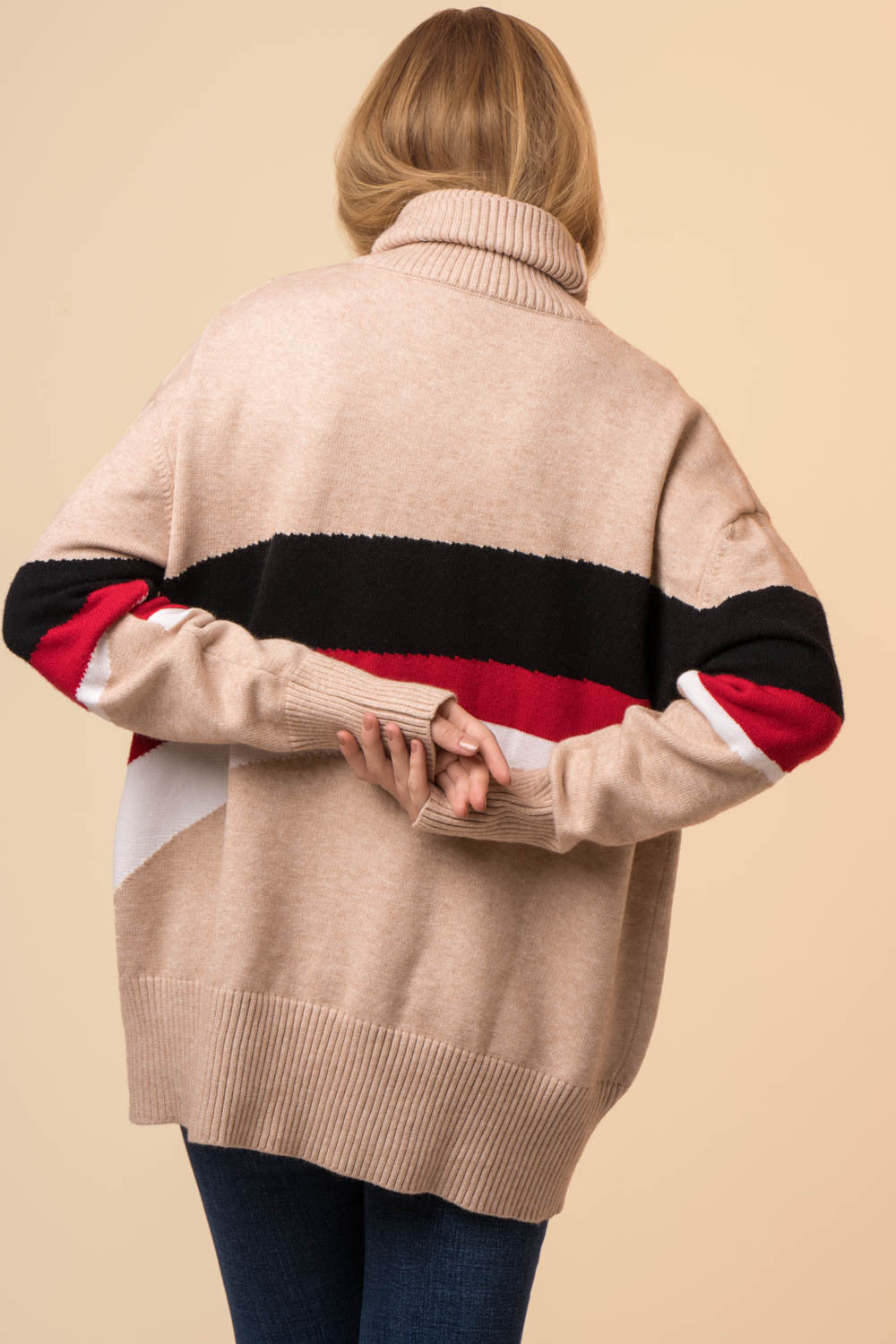 Oversized High Neck Wool Sweater