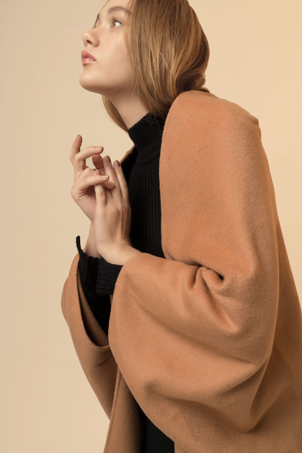 Oversized Wool Cape