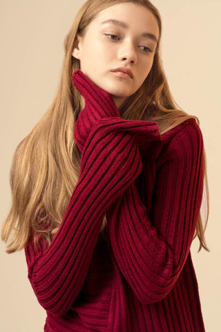 Long Sleeved Red Sweater
