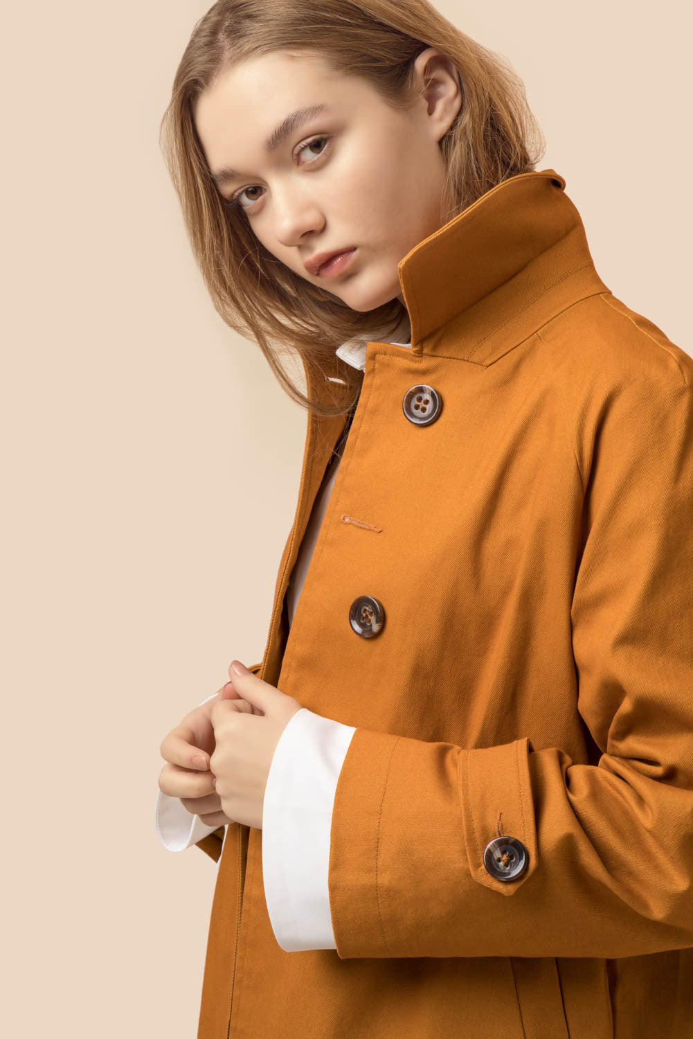 Oversized Camel Trench Coat