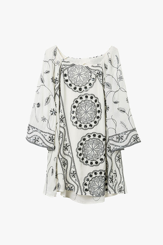 Embellished Sequins Chiffon Mini Dress