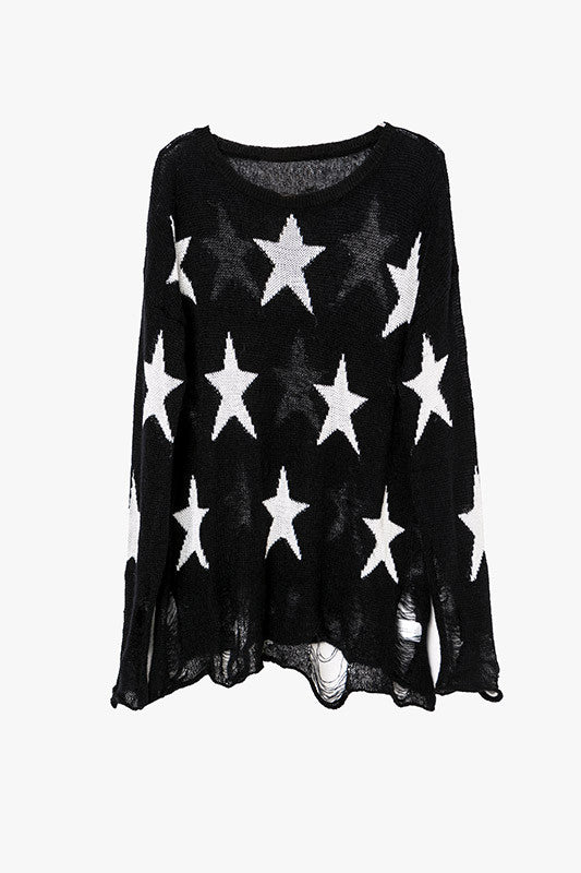 Starry Ripped Sweater