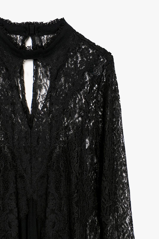 Lace Tunic Mini Dress