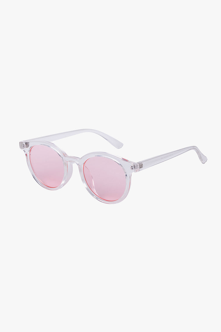 Clear Frame Round Sunglasses