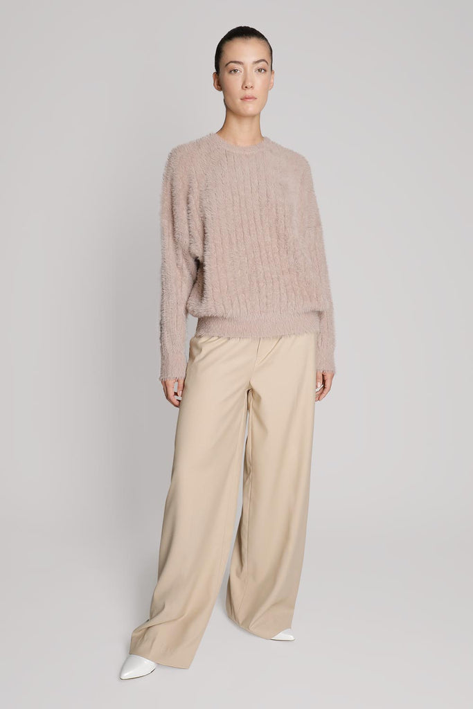 Mid-Rise Wide Leg Pants