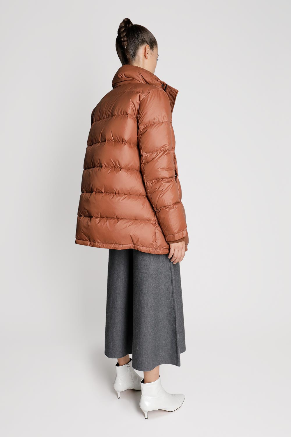 Down Puffer Jacket with Neck Wrap