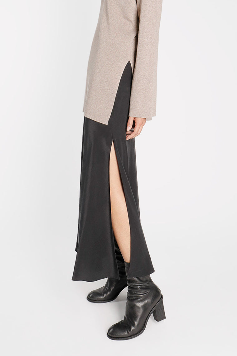 Silk Skirt with Slits