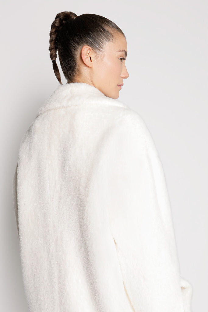 Oversized Faux Fur Short Coat