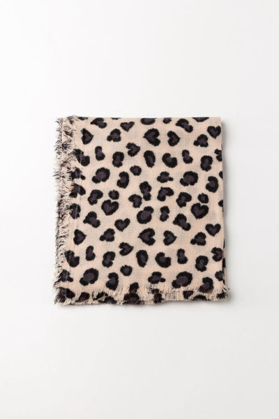 Leopard-Printed Scarf