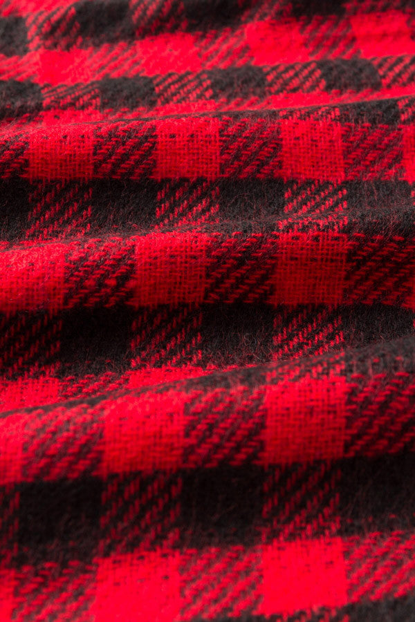 Red-Black Plaid Stole