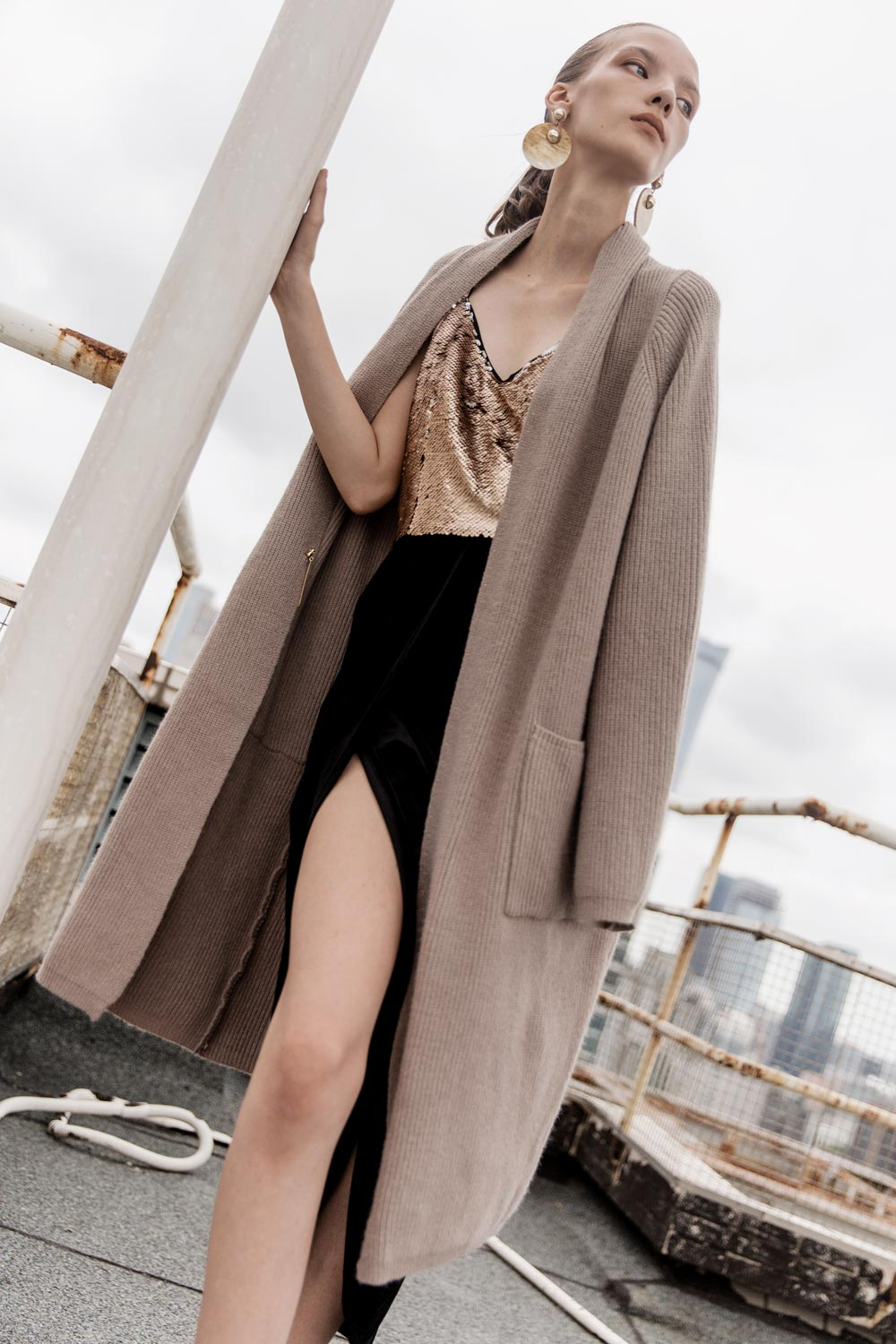 Oversized Long Cardigan