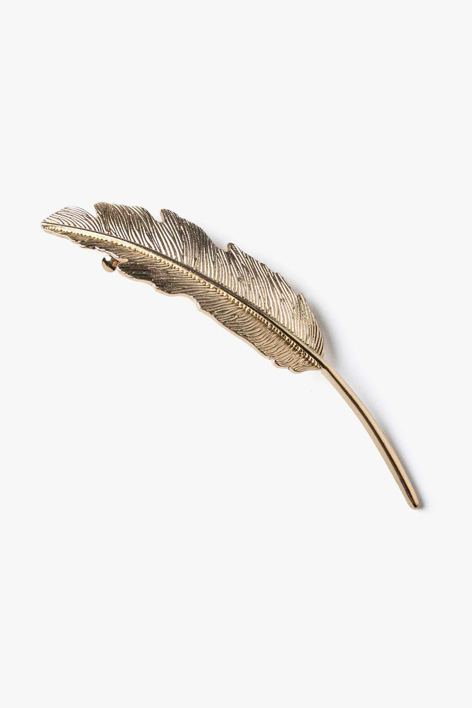 Metal Feather Hair Clip