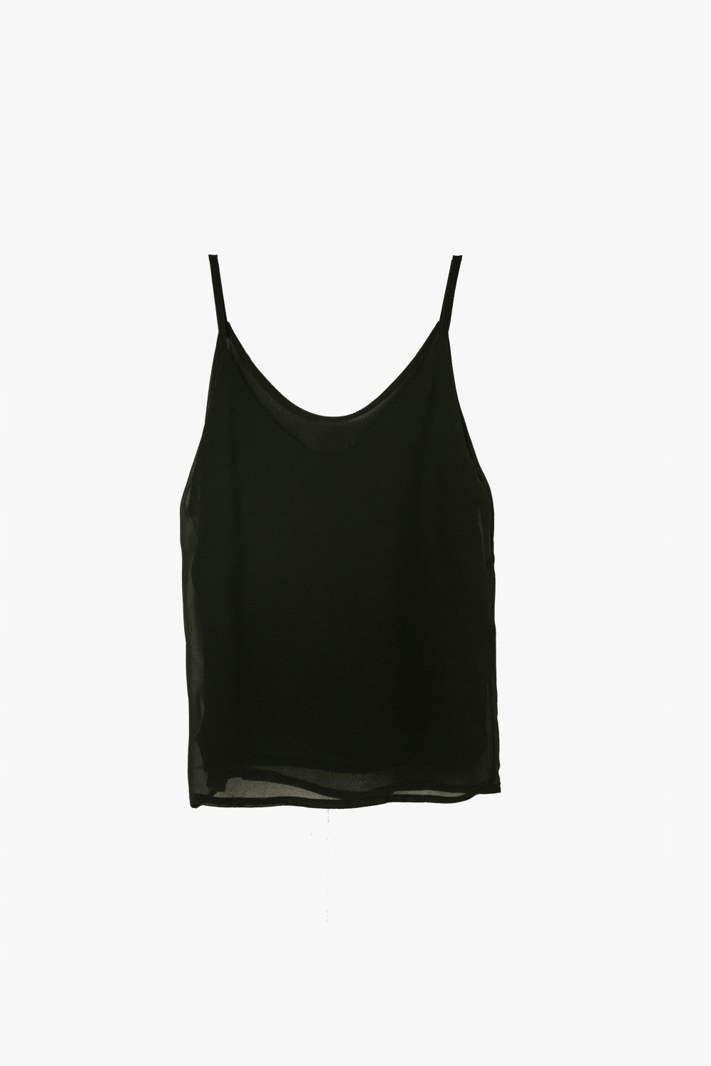 Sleeveless Chiffon Tank Top