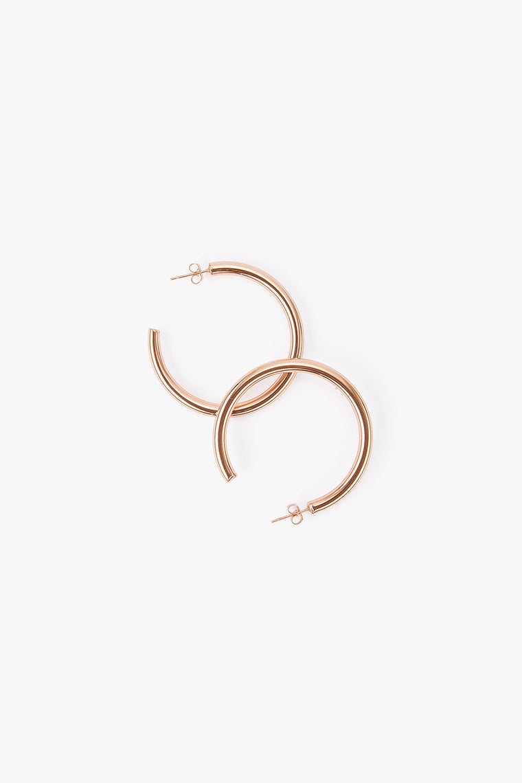 Rose Gold Titanium Hoop Earrings