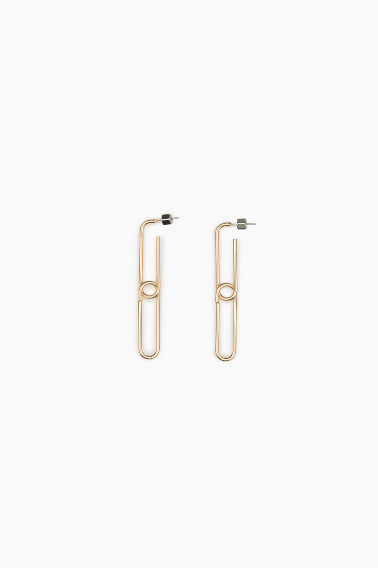 Rectangle Link Earrings