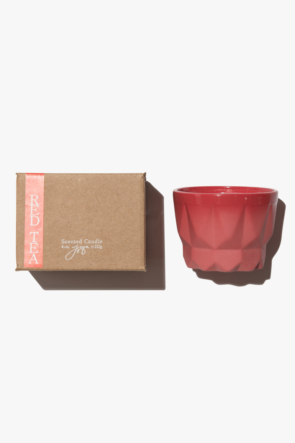 Red Porcelain Candle | Red Tea