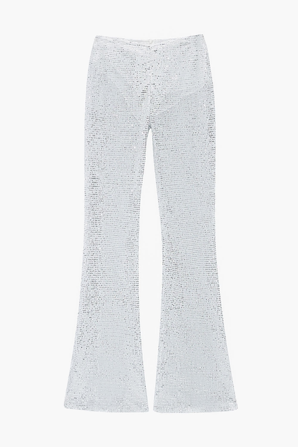 Sheer Sequin Bell Bottom Pants