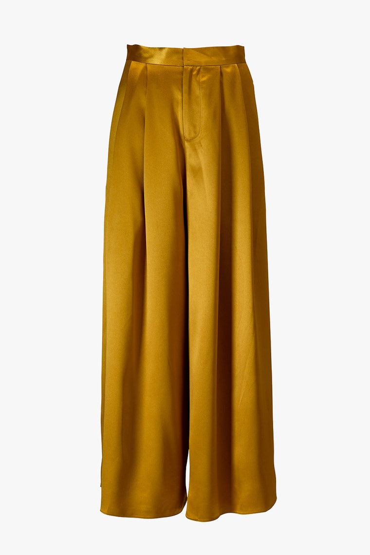 Pleated Loose Crop Pants