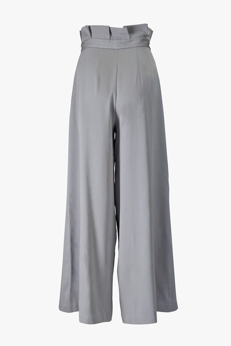 Pleated Wide-Leg Pants