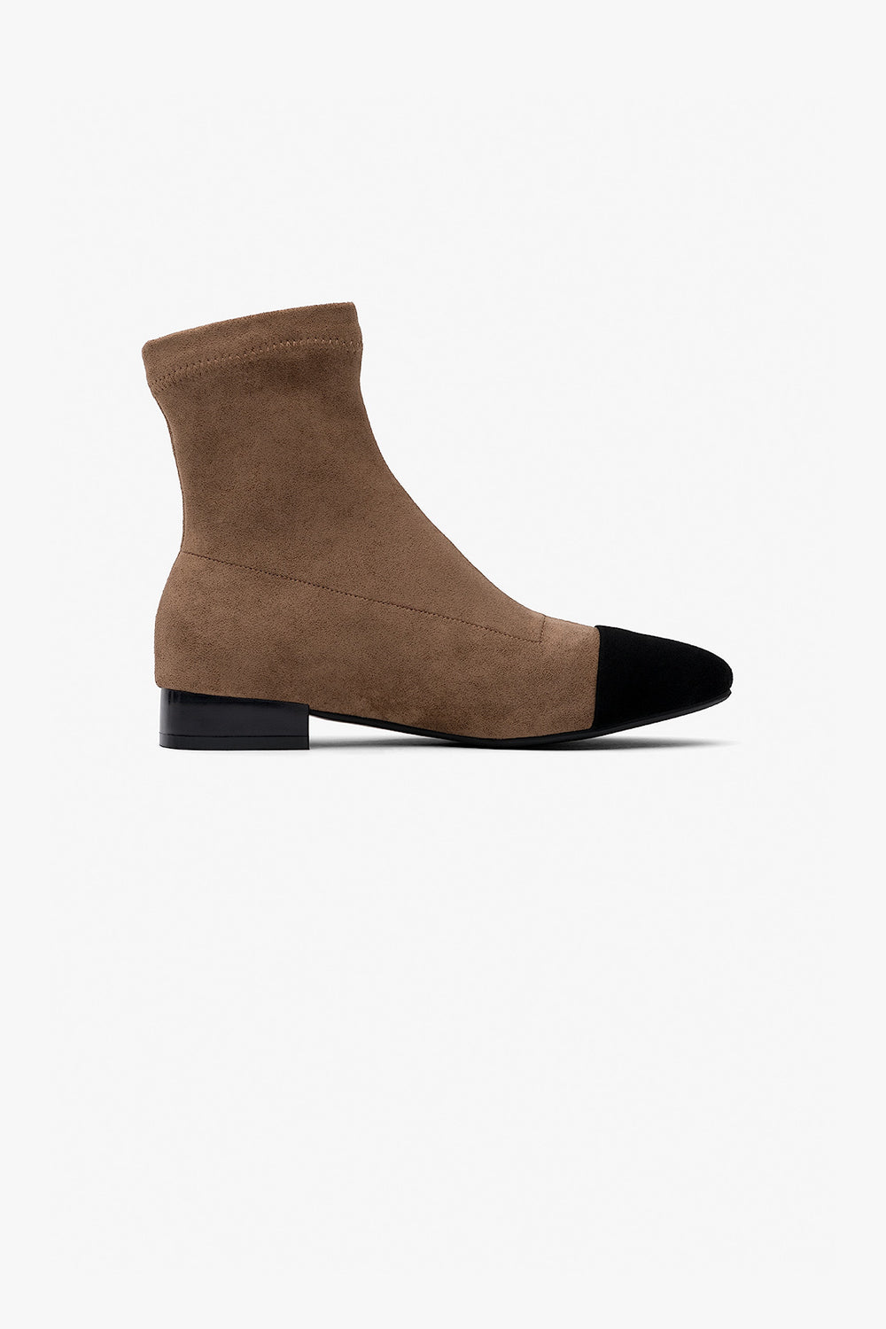 Two-Tone Suede Boots
