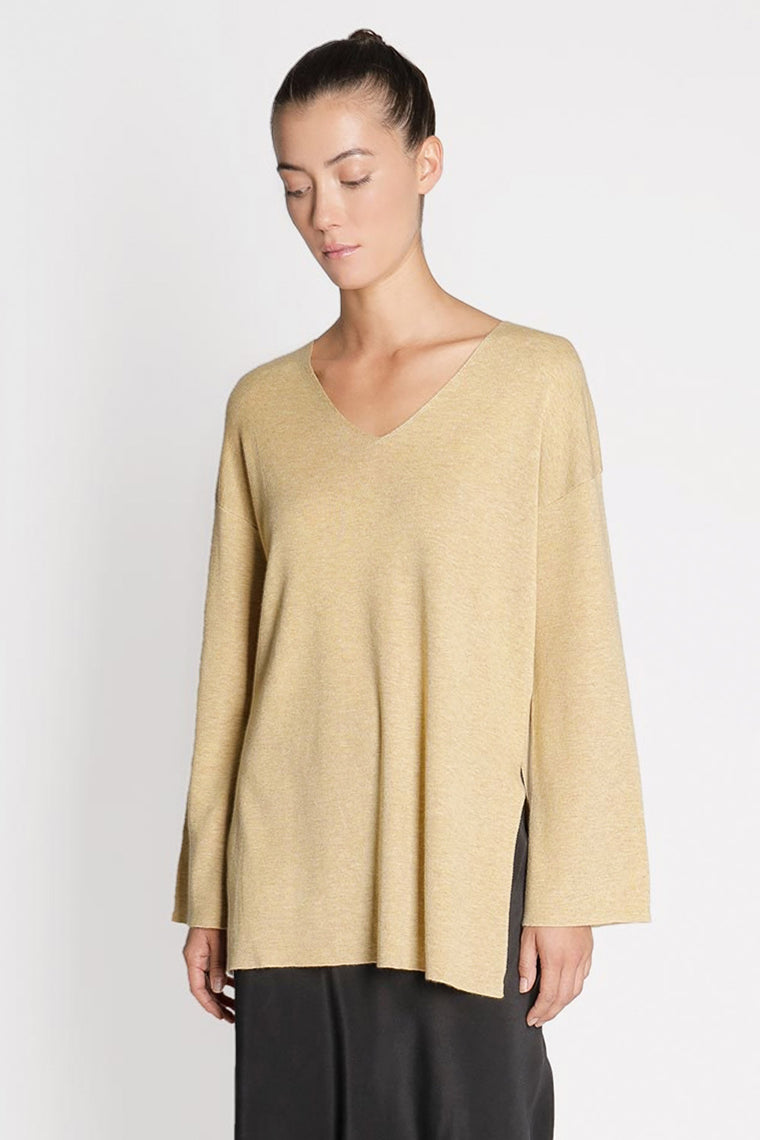 Wool Bell Sleeve Sweater Top