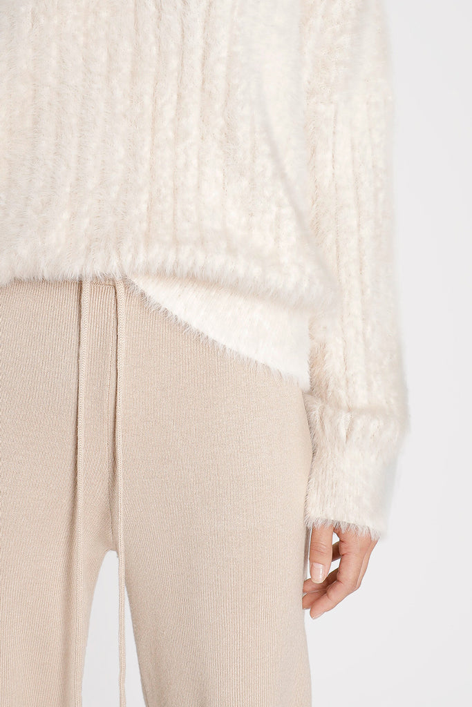 Finely Ribbed Cashmere Leisure Pant